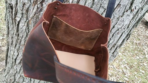 Custom Made The Shae Bag - Burgundy Leather Handbag - Pull Up Leather Tote-Style Handbag/Purse