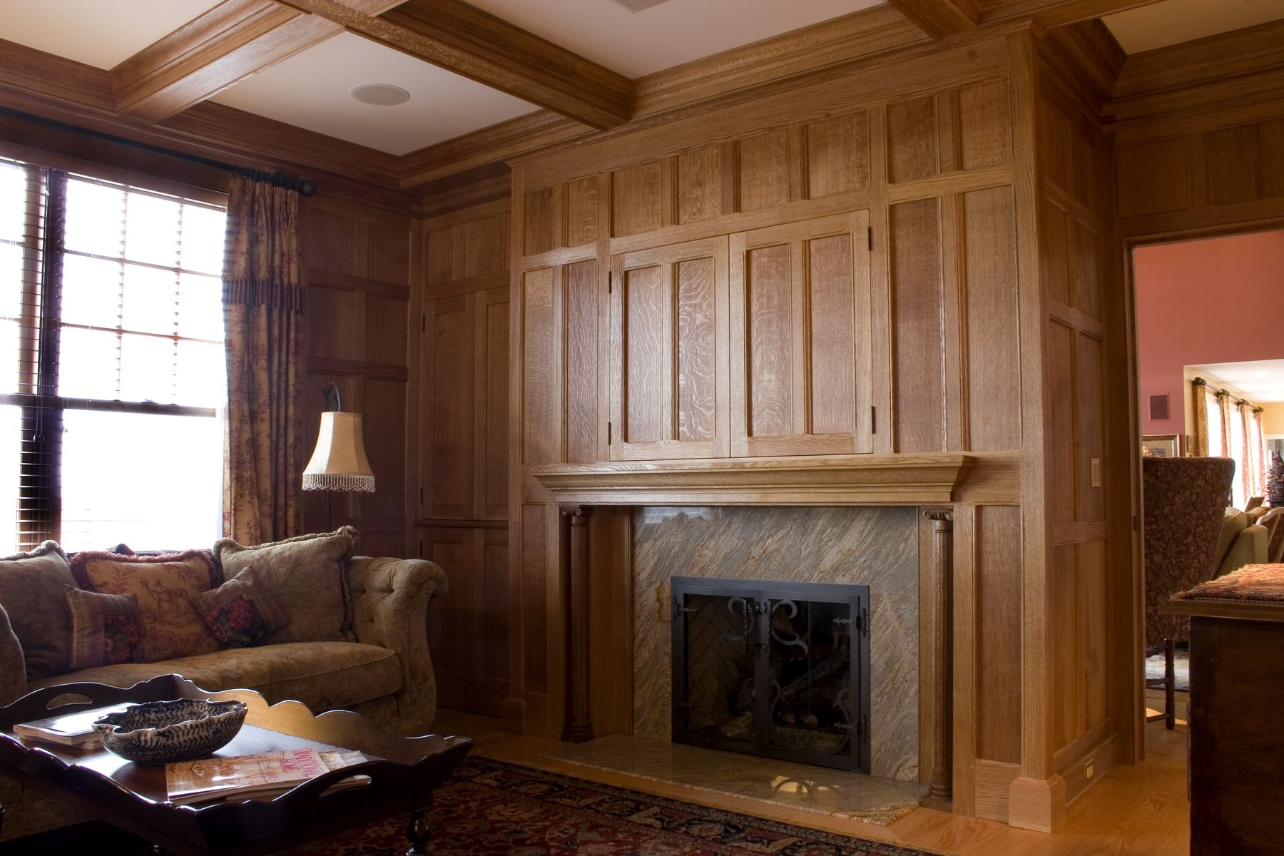 hand made quartered oak paneled studyalbert s. grant fine