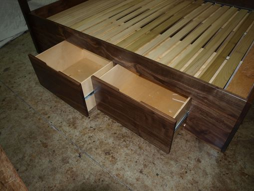 Custom Made Live Edge Walnut Bed