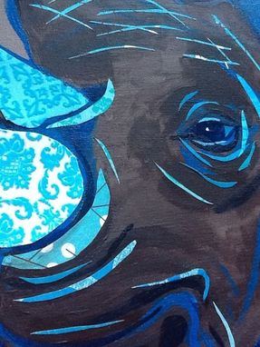 Custom Made Blue Tusk Rhino Limited Edition Print