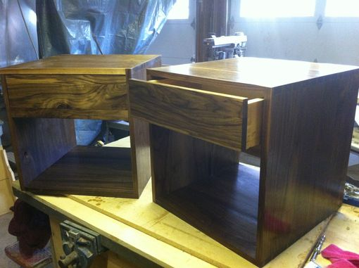 Custom Made Solid Walnut Nightstand