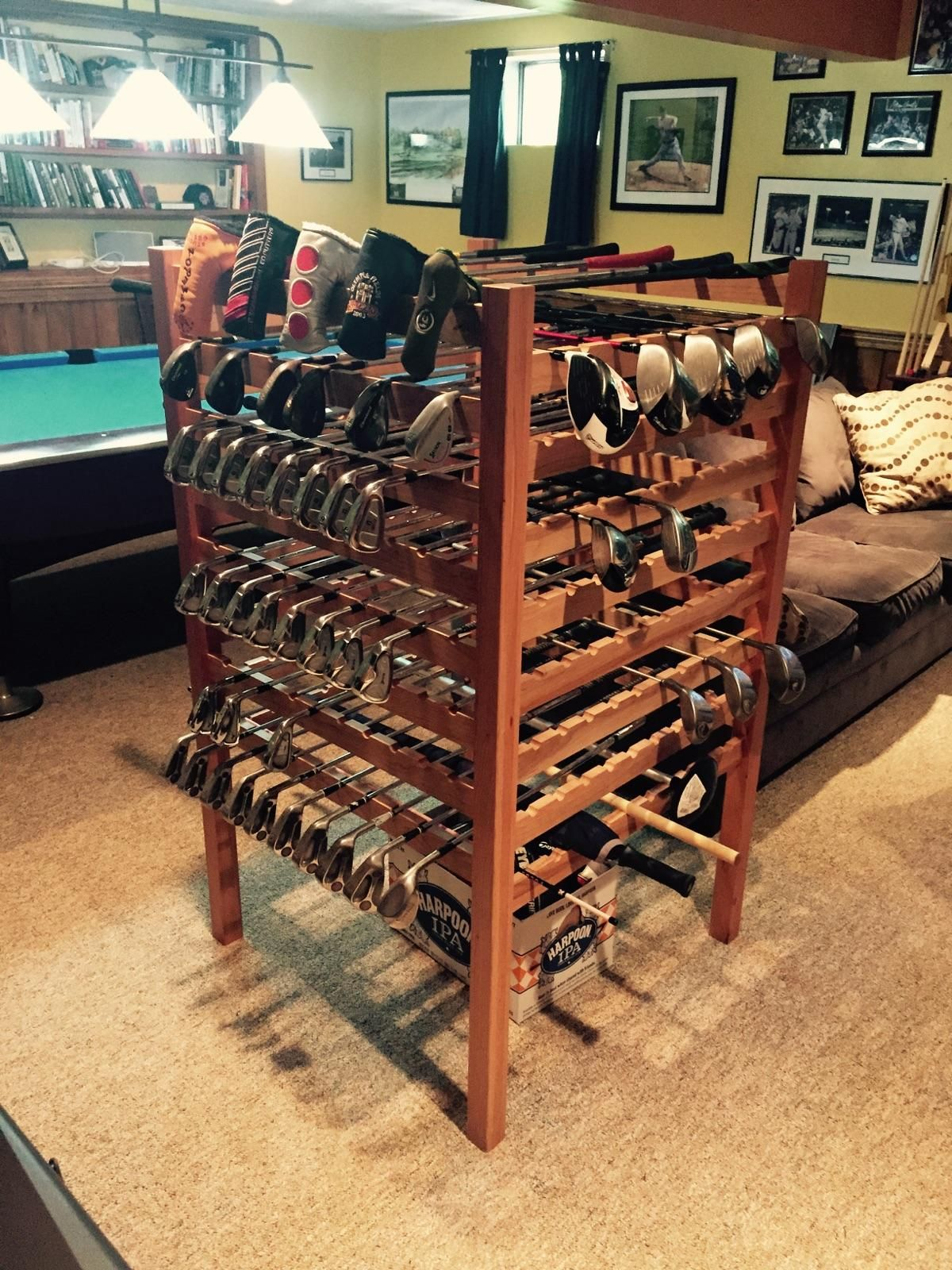Asian Inspired Bedroom Furniture Hand Crafted Cherry Golf Club Display Rack By Lyons