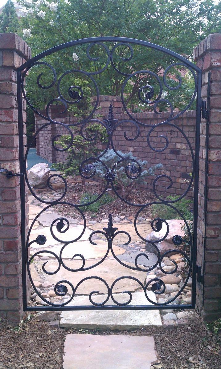 Wrought iron garden gate - Custom Made Wrought Iron Garden Gate