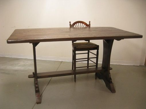 Custom Made Bar Height Trestle  Table