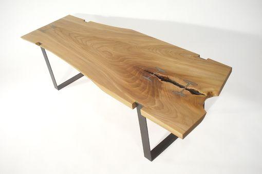 Custom Elm Inset I Beam Table By Bdagitz Furniture