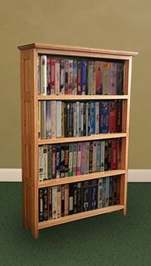 Custom Made Solid Oak Mission-Style Bookshelf