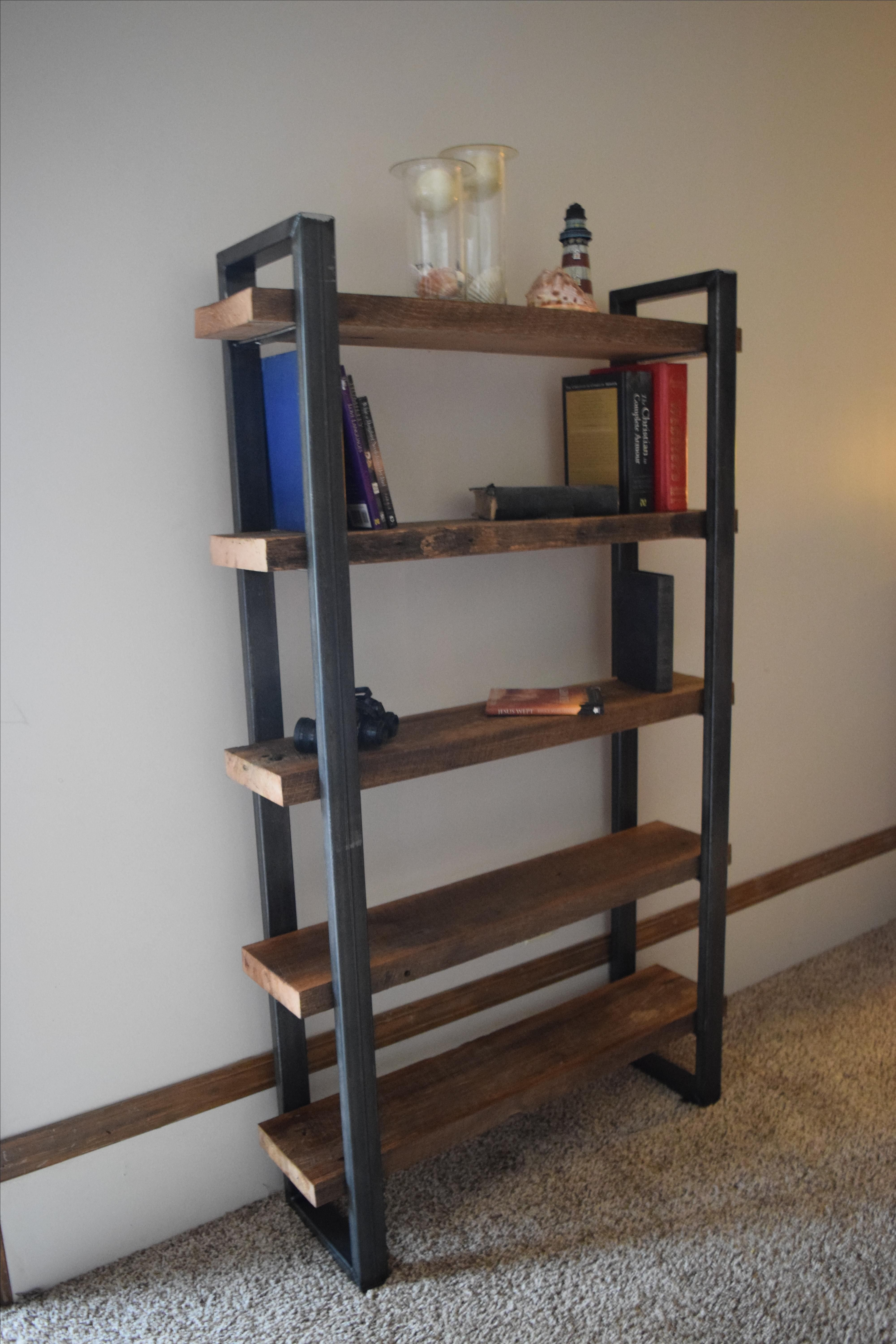 Custom Made Industrial Style Bookcase by Light of the ...