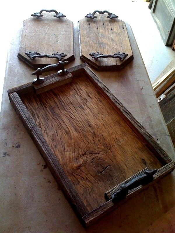 Custom Made Barnwood Trays By Mark Alan Artisan Woods