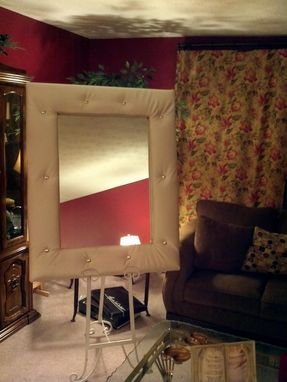 Custom Made Tufted Frame Decorative Mirror
