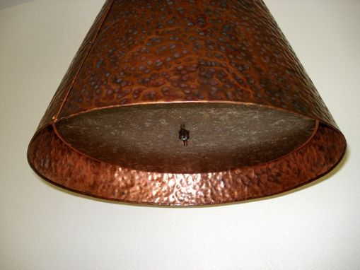 Custom Made Heavy Hammered Copper Chandelier