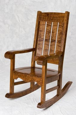 Custom Made Hawaiian Curly Koa Mission Style Rocker