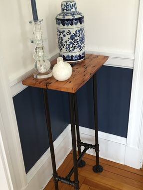 Custom Made Reclaimed Barnwood Side Or End Table
