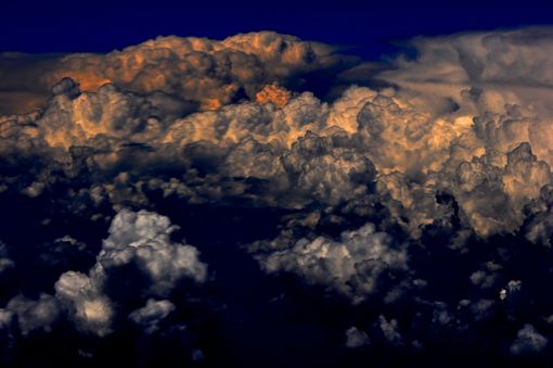 Custom Made Nature Photograph Of Clouds At 30,000 Feet