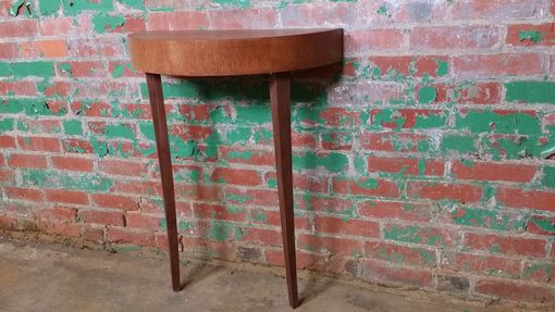 Custom Made Two-Legged Leaning Console Table | Quarter-Sawn Oak And Black Walnut