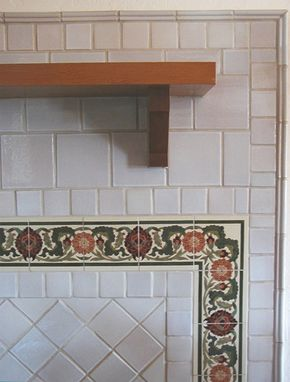 Custom Made Arts Amp Crafts Wood Stove Surround Decorative