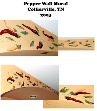 Custom Made Hot Pepper Kitchen Mural / Acrylic