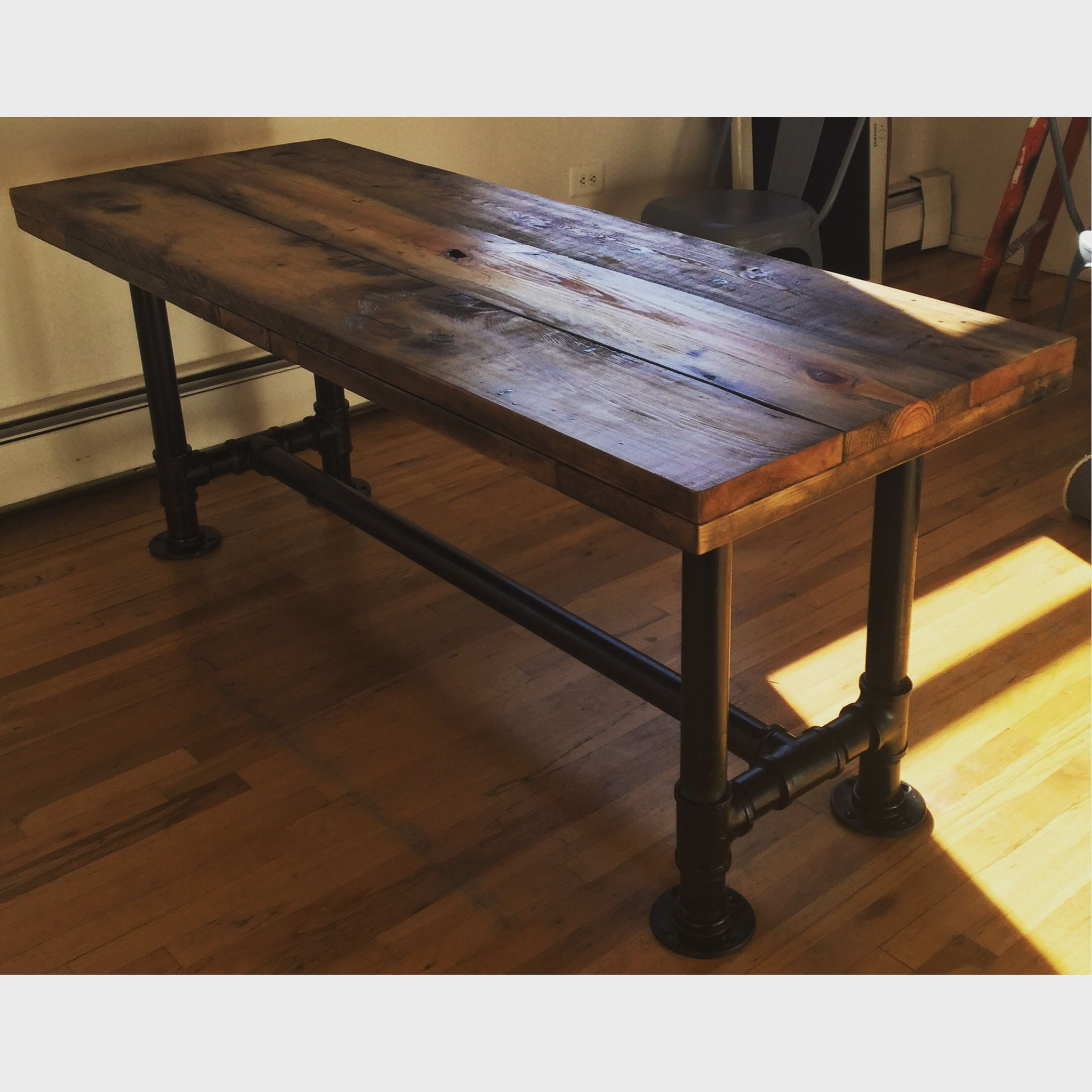 A Hand Made Reclaimed Scaffolding Planks Dining Table To Order From The Small Wood Llc Custommade
