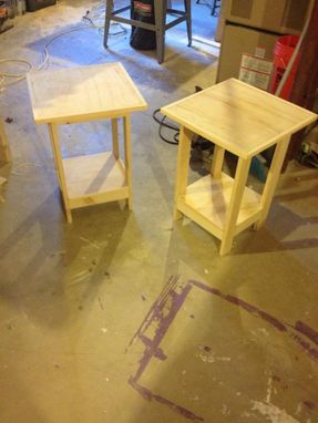 Custom Made End Tables Custom Made To Customer Specs