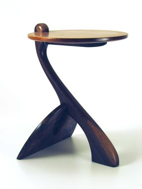 Custom Made Whale Tail Table, Walnut,Cherry, Maple