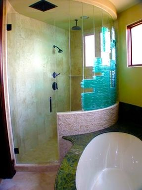 Custom Made Stacked Glass Shower