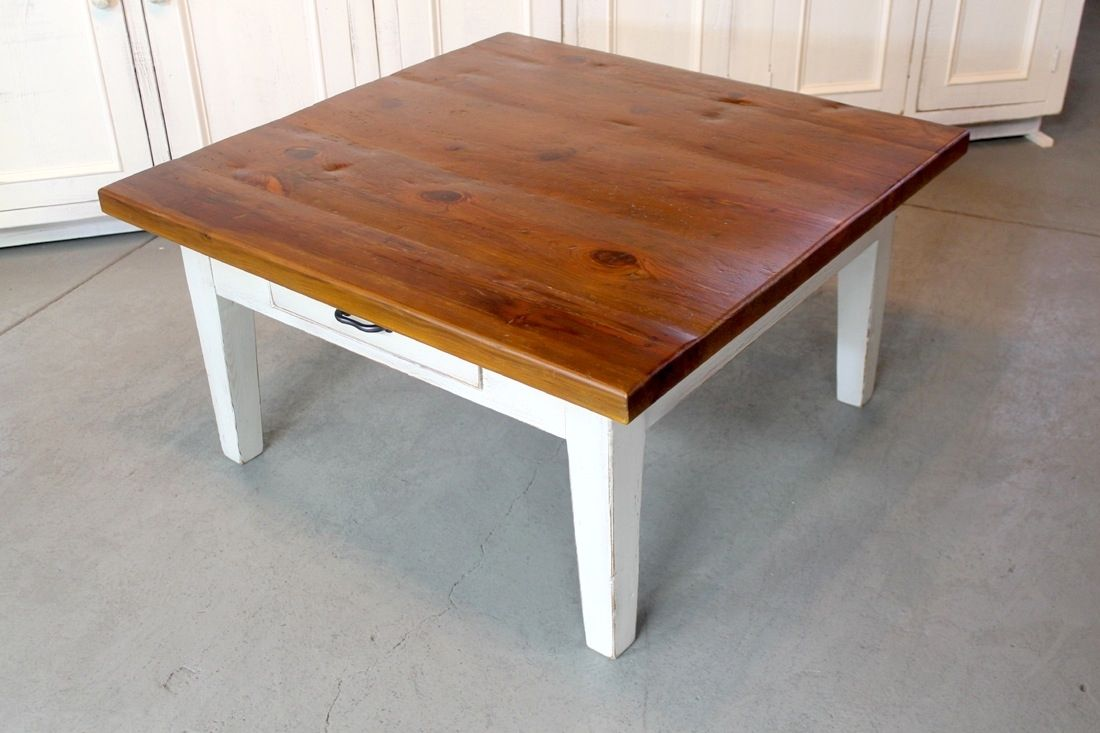 Handmade rustic square farmhouse coffee table by ecustomfinishes handmade rustic square farmhouse coffee table by ecustomfinishes reclaimed wood furniture custommade geotapseo Gallery
