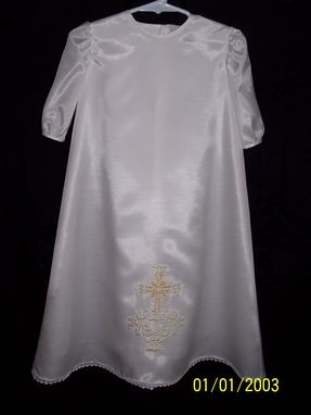 Custom Made Short White Silk Day Dress