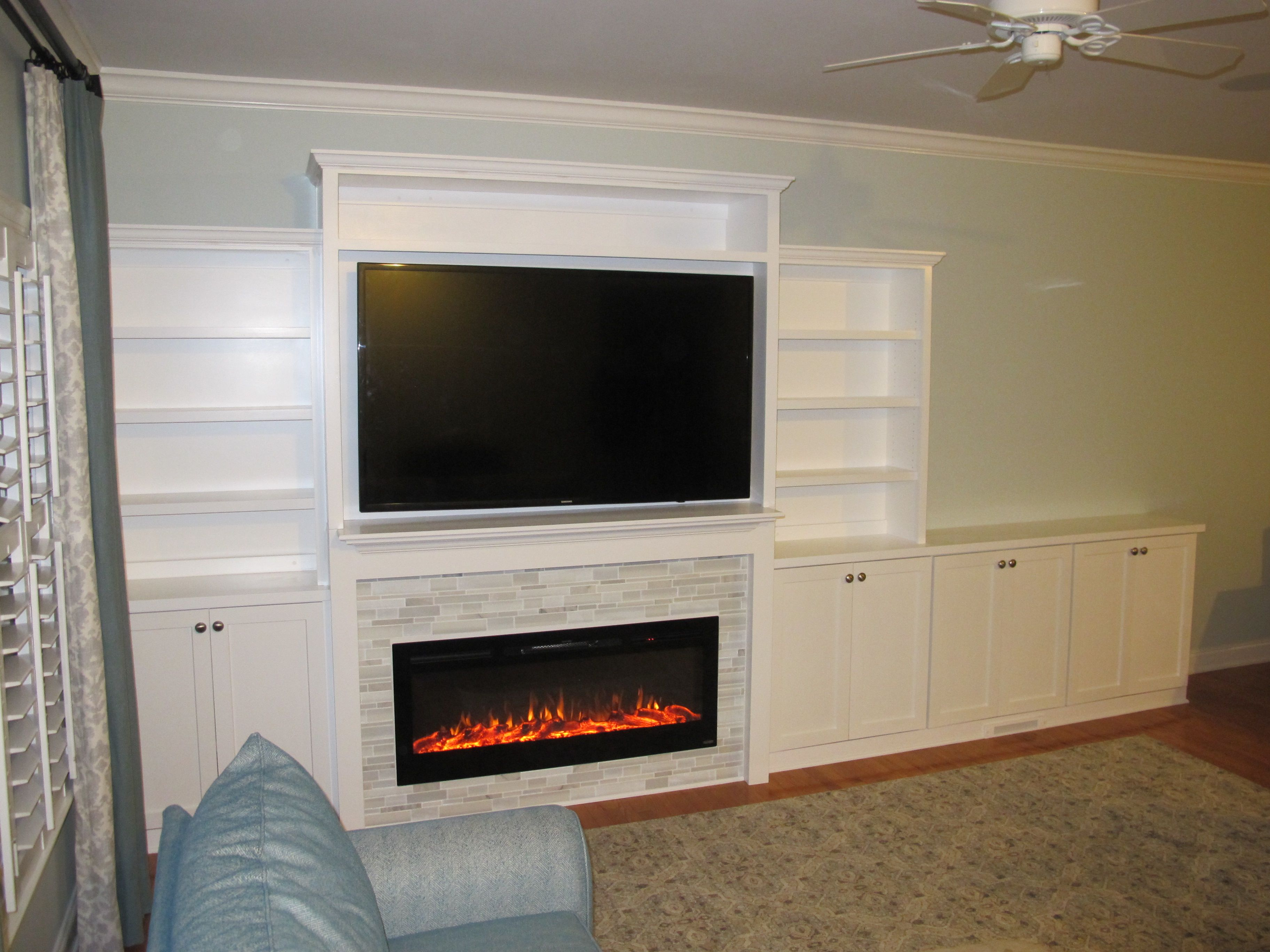 Hand Crafted Custom Built Entertainment Center With Electric