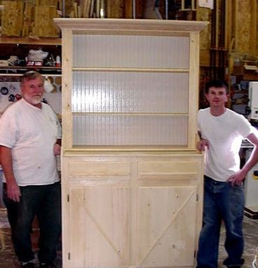 Custom Made Pine Irish Cupboard