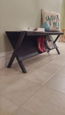 Custom Made Modern Storage Bench For Shoes And Magazines