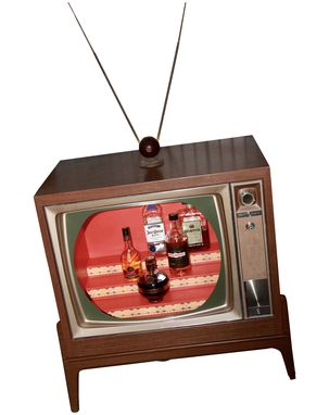 Custom Made Vintage Tv Bar