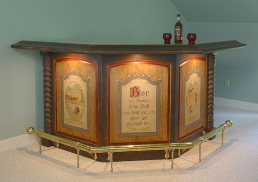 Custom Made Antiqued Oak Bar