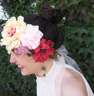 Custom Made Bridal Flower Crown And Sash