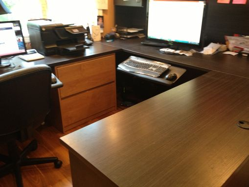 Custom Made Melamine U-Shaped Desk