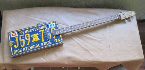 Custom Made 3 String Auto Tag Guitar (Optional Custom Hardcase)