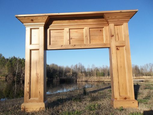 Custom Made Antique Heart Pine Mantel Surround