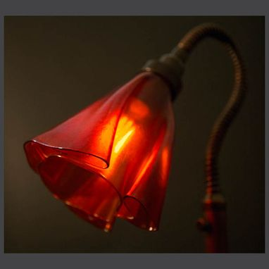 Custom Made Orange Reading Lamp