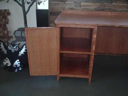 Custom Made Quarter Sawn White Oak Crafting Desk