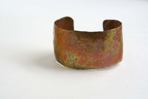 Custom Made .Hand Forged Up-Cycled Copper Cuff Bracelet