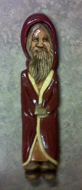 Custom Made Old World Santa - Relief Carving By Mark Ash