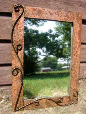 Custom Made Metal Mirror, Rustic Style 28