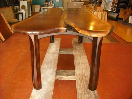 Custom Made ~~~ Double Slab Walnut Table ~~~