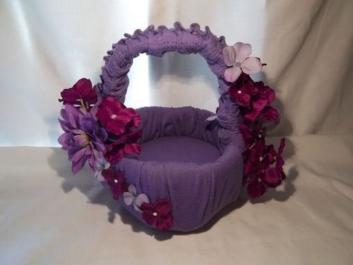 Custom Made Purple Flower Basket