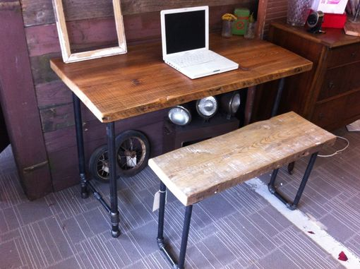 Custom Made Industrial Salvaged Wood Desk