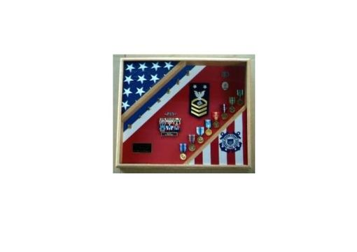 Custom Made Uscg Cutter Shadow Box, Top Qulaty Wood