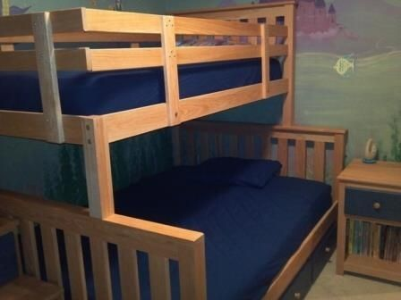 Hand Crafted Custom Childrens Bedroom Set And Bunk Beds W/Stairs by ...