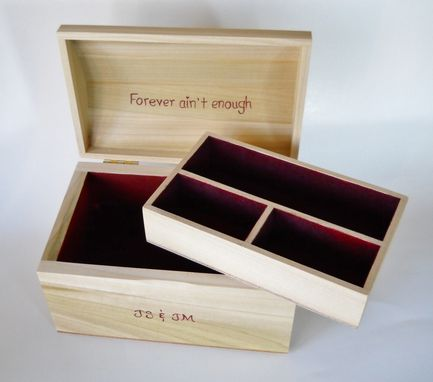 Custom Made Curved Top Poplar Jewelry, Treasure Box