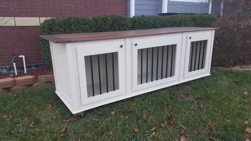Custom Made Triple Small Breed Kennel