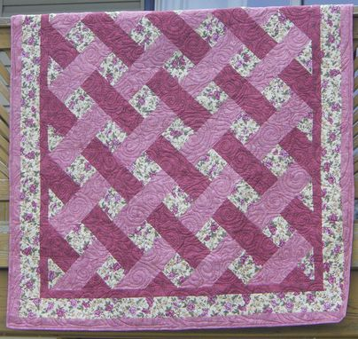 Custom Made Quilt Weave Throw Blanket