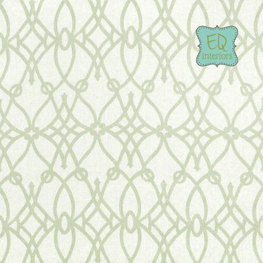 Custom Made 96l X 50w Braemore Fioretto Sprout Green Linen Scroll Trellis Custom Curtain Panels