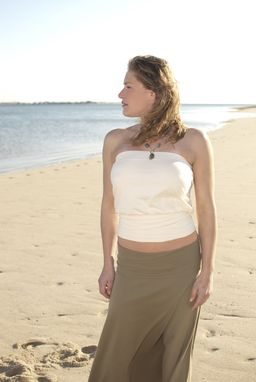 Custom Made Women's Spring/Summer Bandeau Top In Natural Organic Cotton Or Coral Bamboo
